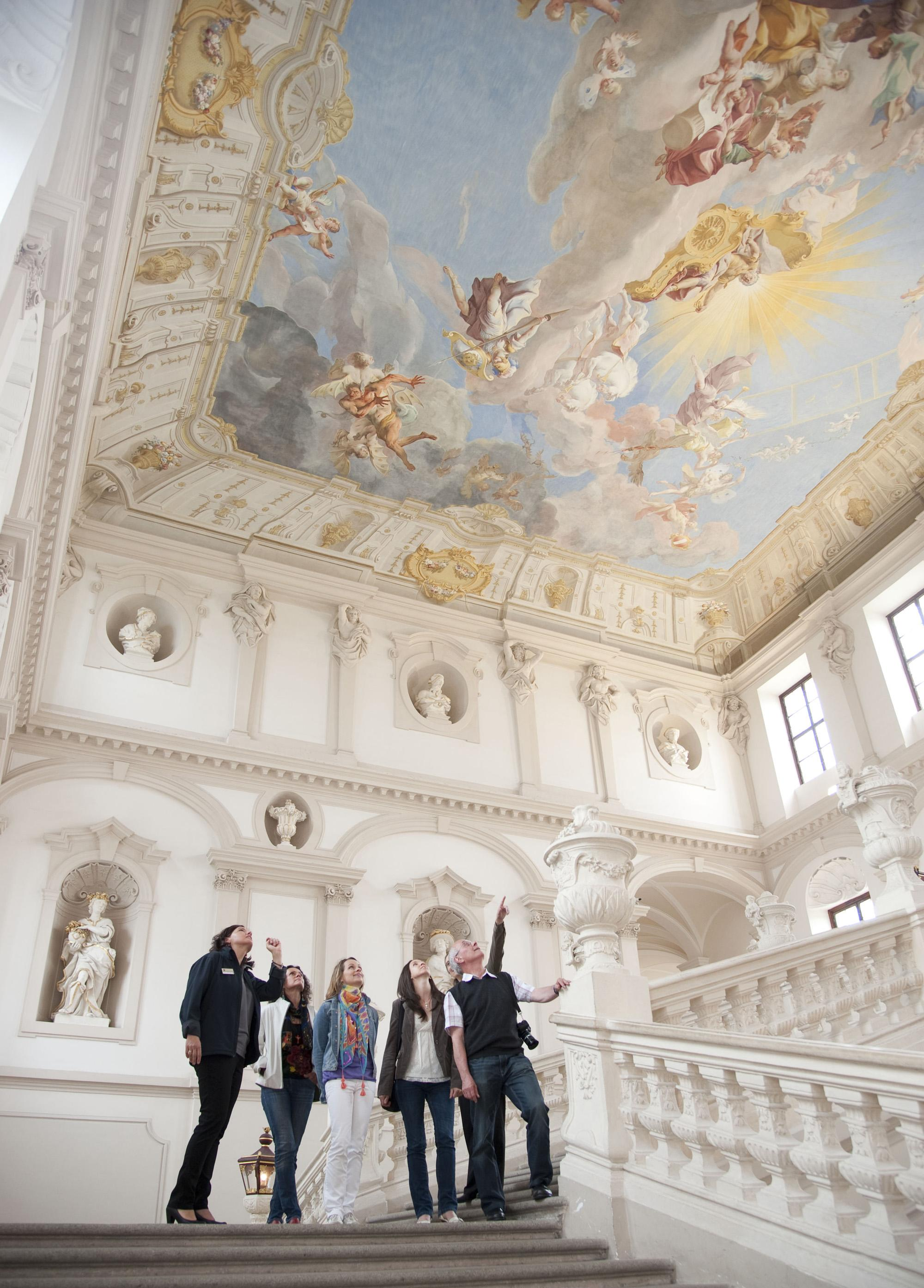 The imperial staircase of Göttweig Abbey is one of the largest and most beautiful baroque staircases in the World. – © Josef Herfert / Stift Göttweig