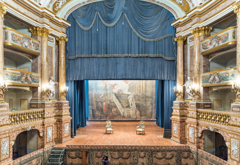 The Court Theatre - here with a view from the King's box - is among the most popular attractions in the five-floor palace. – © Reggia Archive