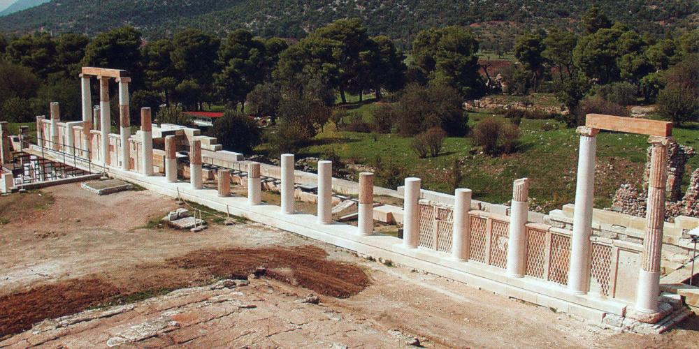 The Abaton, or Enkoimeterion, was a prohibited place, where only patients who had purified themselves were allowed to enter. – © Hellenic Ministry of Culture and Sports / Ephorate of Antiquities of Argolida