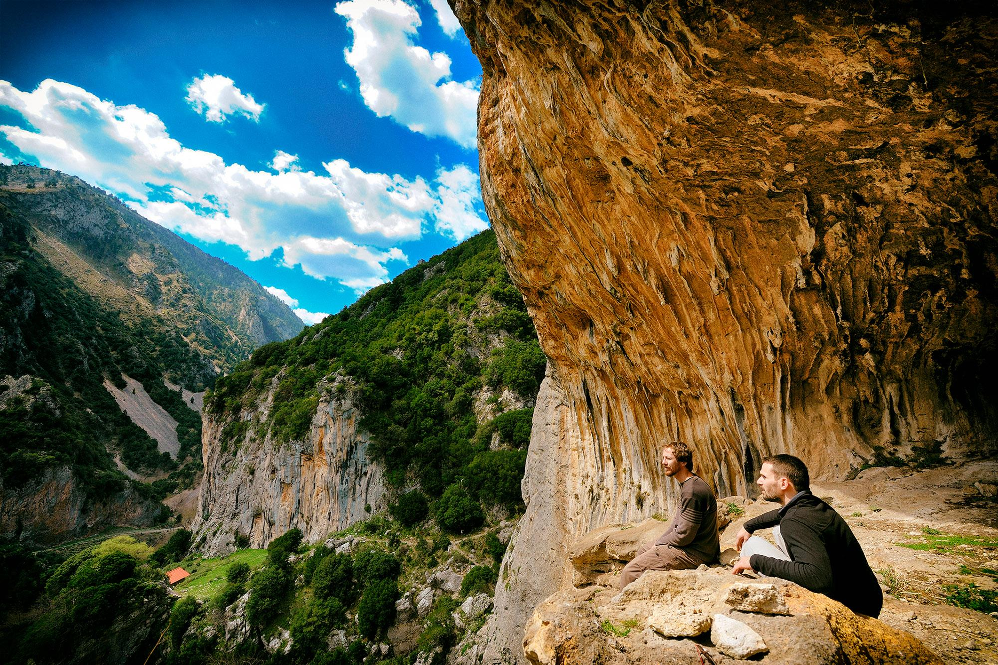 Lagada is an amazing climbing area 14 km away from the bustling city of Sparta. - © X. Tsipokas