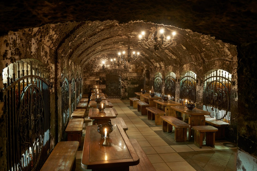 Tokaj's hand-carved, volcanic underground cellars of the 13th century—such as the Oremus Cellar in Tolcsva—have been well-preserved. – © György Darabos