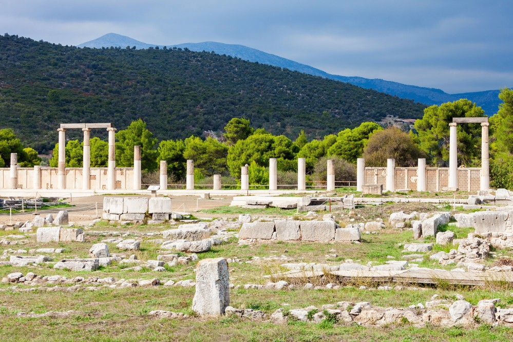 Ruins of the Sanctuary of Asclepius at Epidaurus, which was dedicated to Asclepius, the Greek god of medicine. – © saiko3p / Shutterstock