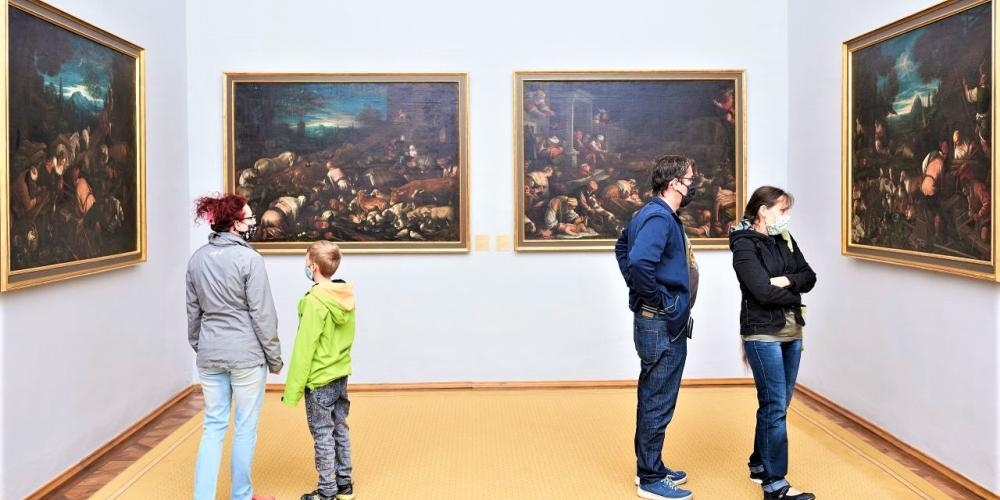 The Picture Gallery of the Archiepiscopal Castle contains paintings from the 15th to the 19th century. The most precious one is the one by Titian - Apollo and Marsyas. – © Olomouc Museum of Arts