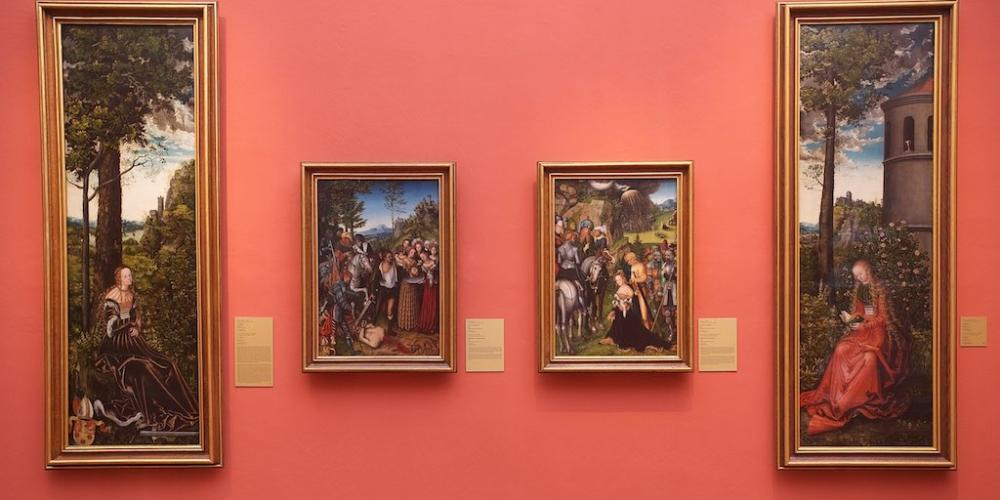 The best documented paintings in the collection of the Castle od Kroměříž are two altarpieces Lucas Cranach the Elder acquired during the episcopate of the Bishop Stanislaus Thurzo. – © Archive of the Archiepiscopal Castle Kroměříž
