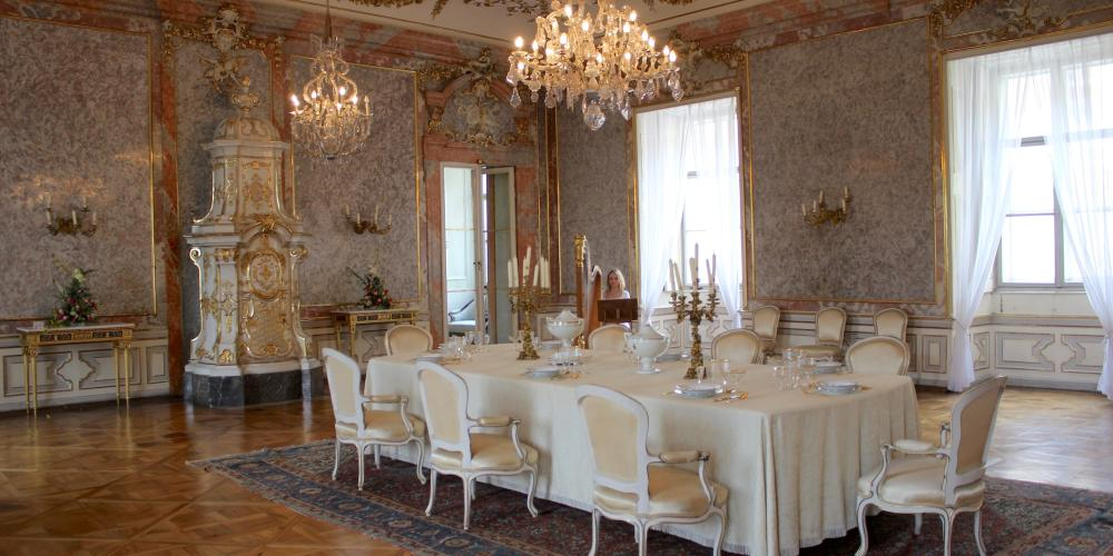 The Dining room is the largest and most splendid hall at Valtice Castle. – © Lenka Beránková