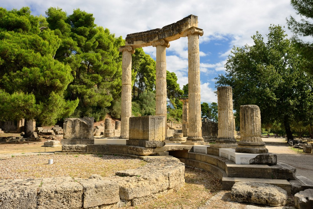 This Panhellenic sanctuary, dating back to the end of the 4th millennium BC, is one of the most important spots to trace the roots of Western culture due to its religious, political, and sports tradition. Pictured: The ruins of the recently restored Philippeion. – © Oleg Znamenskiy / Shutterstock.com