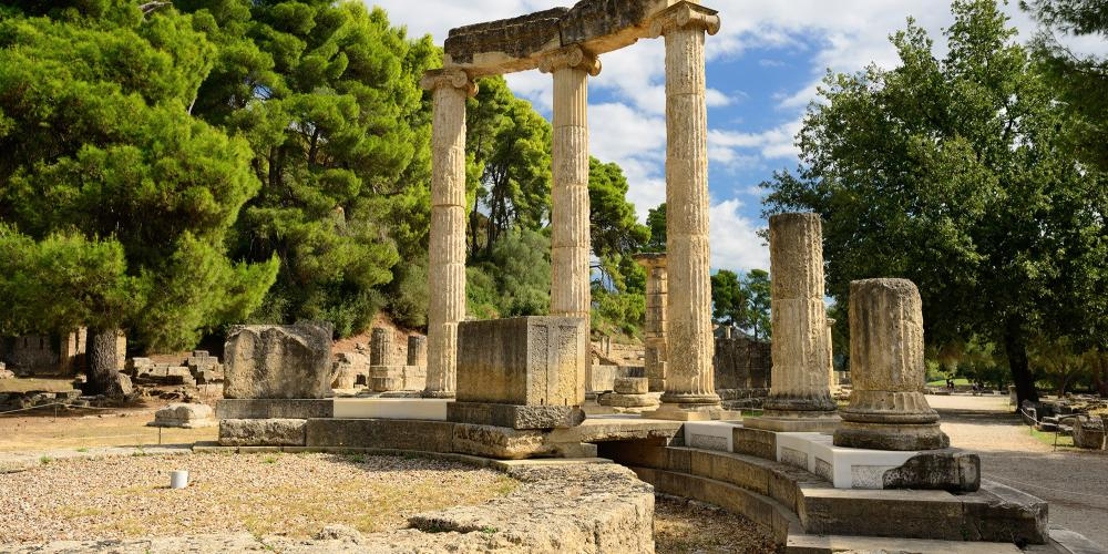 This Panhellenic sanctuary, dating back to the end of the 4th millennium BC, is one of the most important spots to trace the roots of Western culture due to its religious, political, and sports tradition. Pictured: The ruins of the recently restored Philippeion. – © Oleg Znamenskiy / Shutterstock