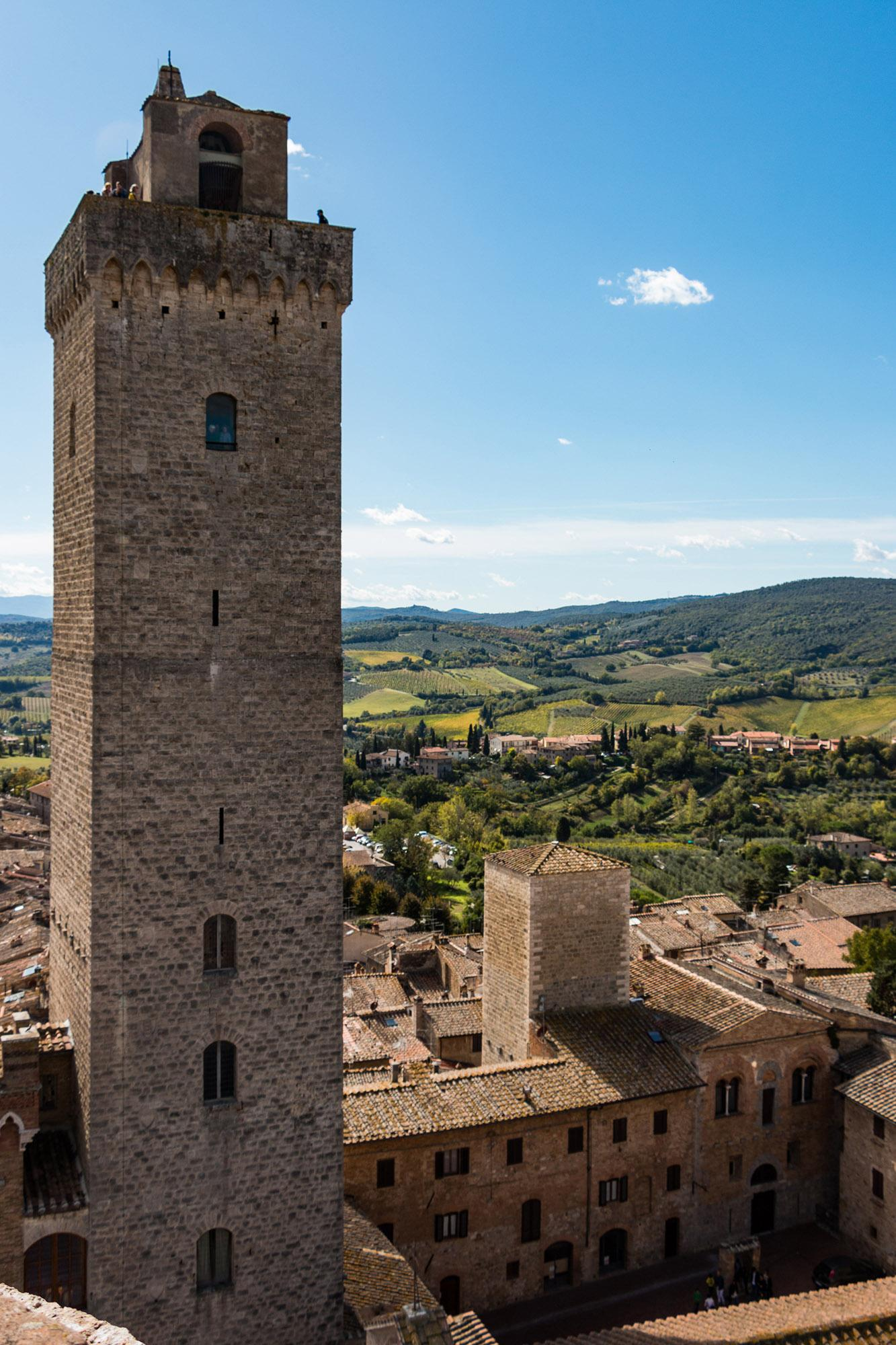 The 54-metre Torre Grossa is the highest tower in the historical centre of San Gimignano. - © Comune di San Gimignano