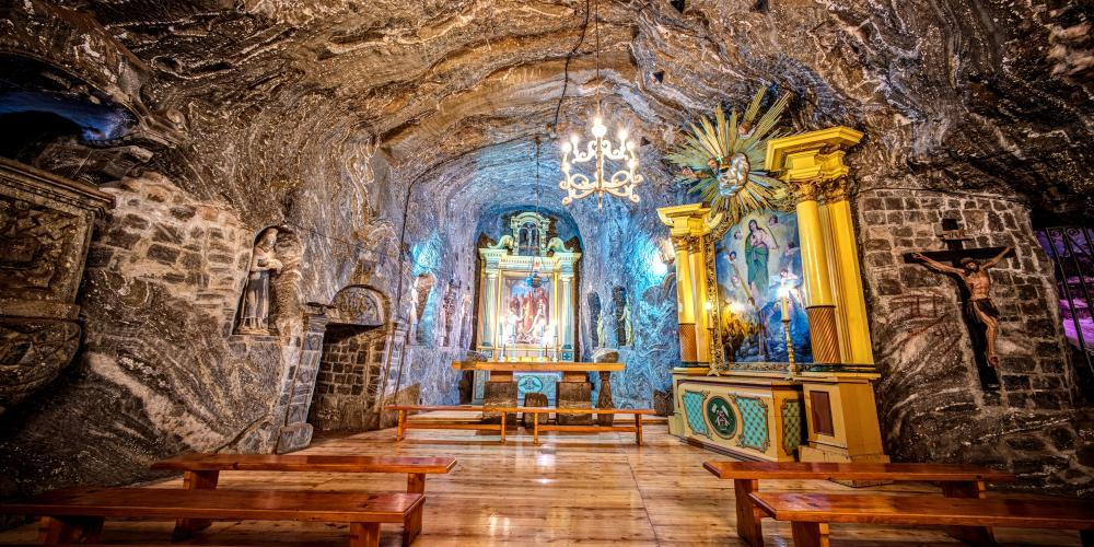 The Chapel of St. Kinga is a special place in the Bochnia Salt Mine. According to the legend, it was here that rock salt was discovered in the 13th century. – © Adam Brzoza