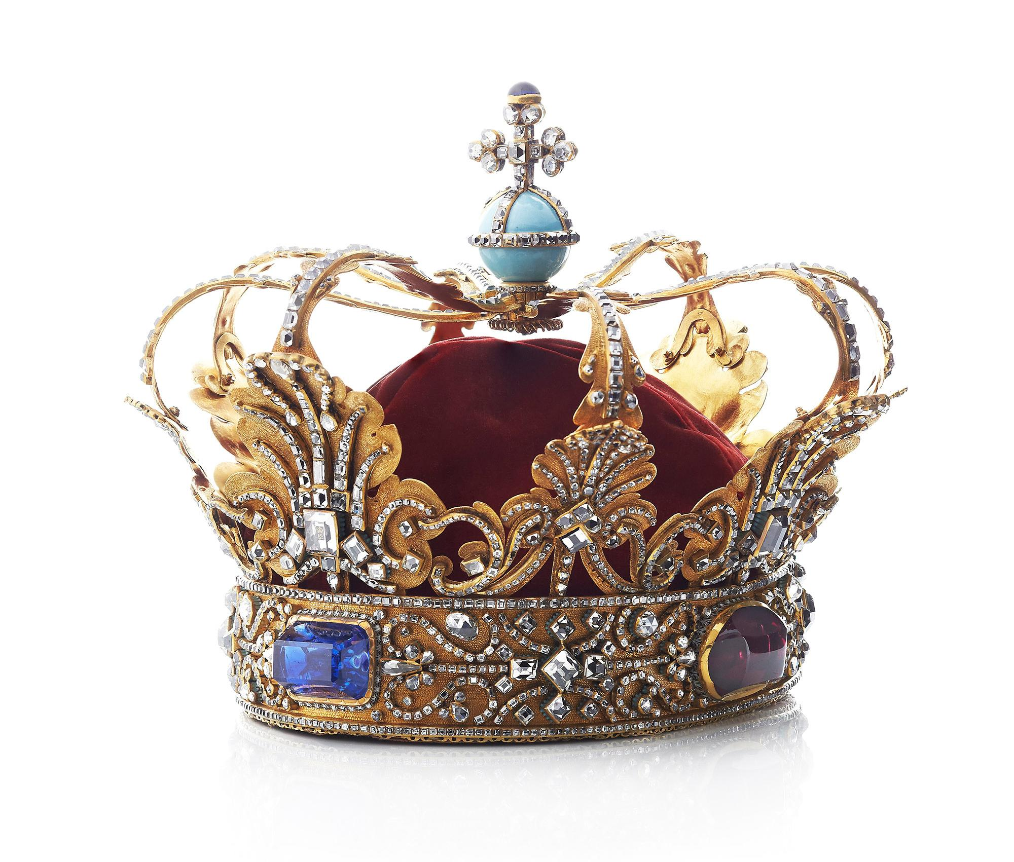The Crown of the Absolute Monarchs, used by the kings from Christian V to Christian VIII is one of the many treasures of Rosenborg Castle. – © Iben Kaufmann