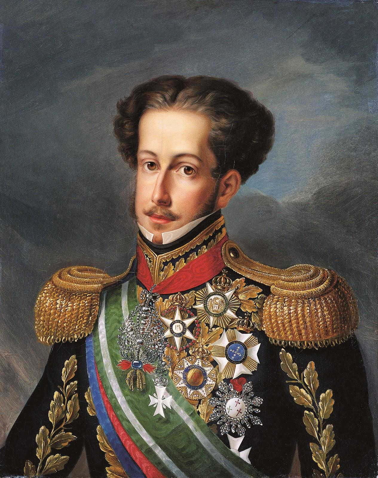 Pedro I & IV, Emperor of Brazil and King of Portugal and Algarves (c. 1830) by Simplício Rodrigues de Sá – Imperial Museum of Petrópolis