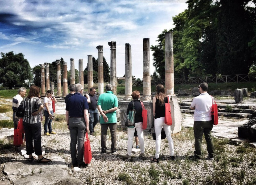 Discover the ancient forum with an expert guided tour during the Aquileia Open Days. – © Gianluca Baronchelli