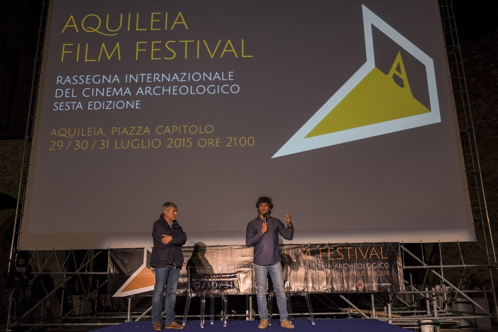 Alberto Angela—popular TV science communicator, writer and palaeontologist—is a special guest of the Aquileia Film Festival. – © Gianluca Baronchelli