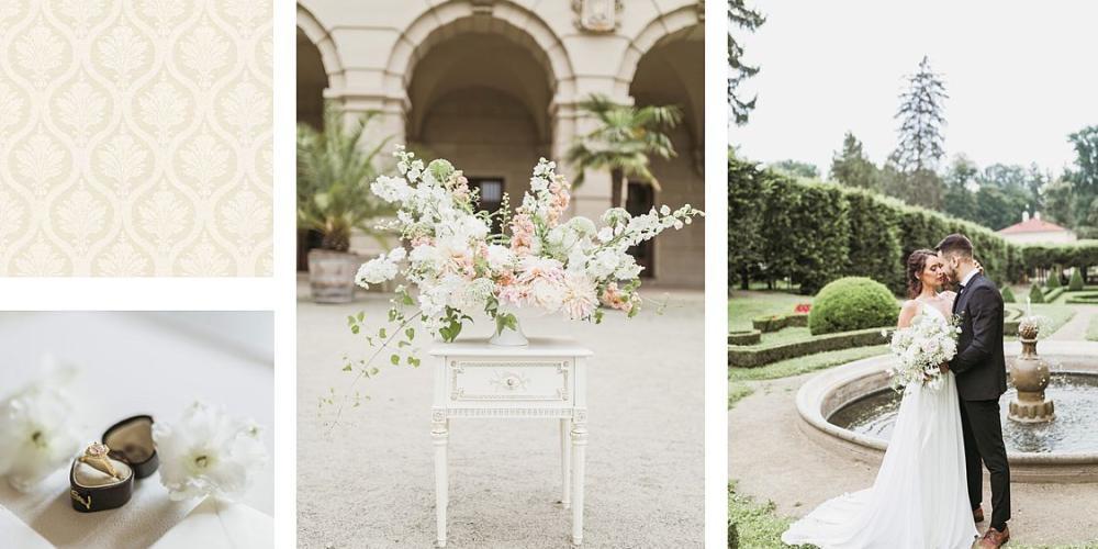 Would you prefer the romantic Castle Garden Wedding or elegant ceremony in the Sala Terrena. – © Sweet&Chic Svatba