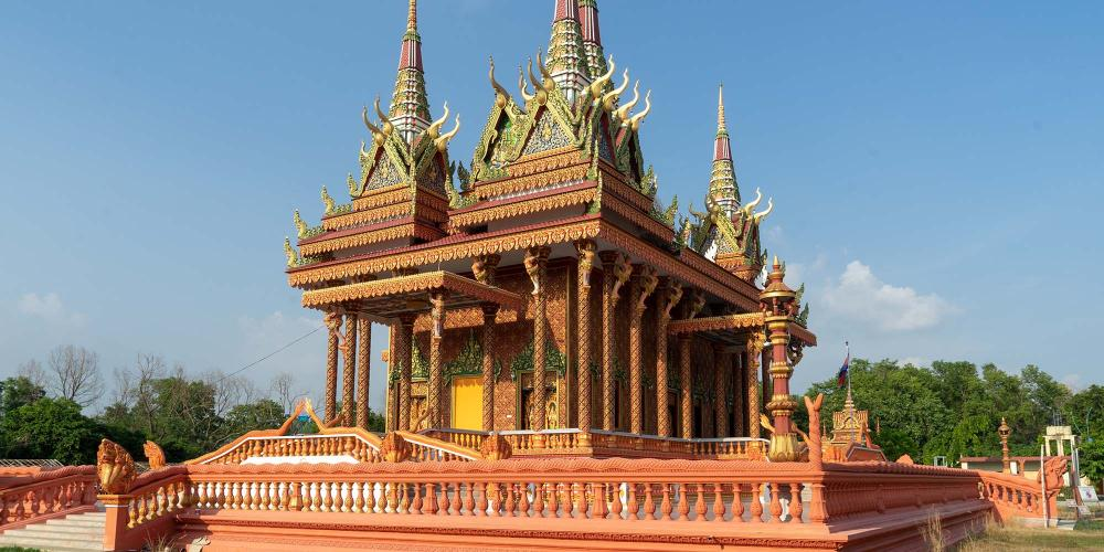 The striking Cambodian Monastery reflects the religious art and architecture of South East Asia. – © Michael Turtle