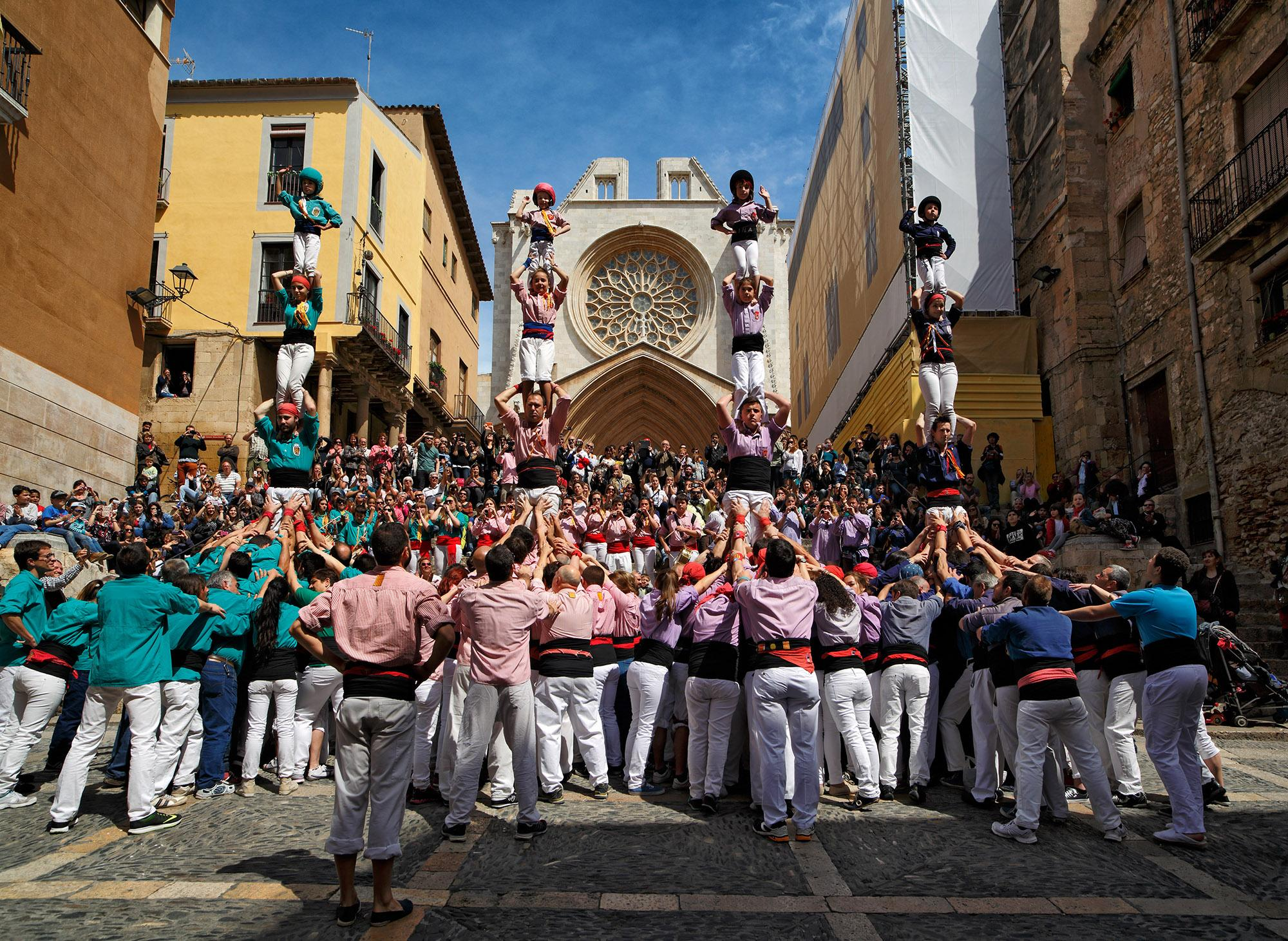 "Tarragona, Spain is the home to tangible cultural World Heritage in the form of the ancient ruins of the Roman city of Tárraco, as well as the intangible World Heritage tradition of Castells, or ""Human Towers"" which have been part of the local culture since the 18th century. – © Rafael López-Monné"