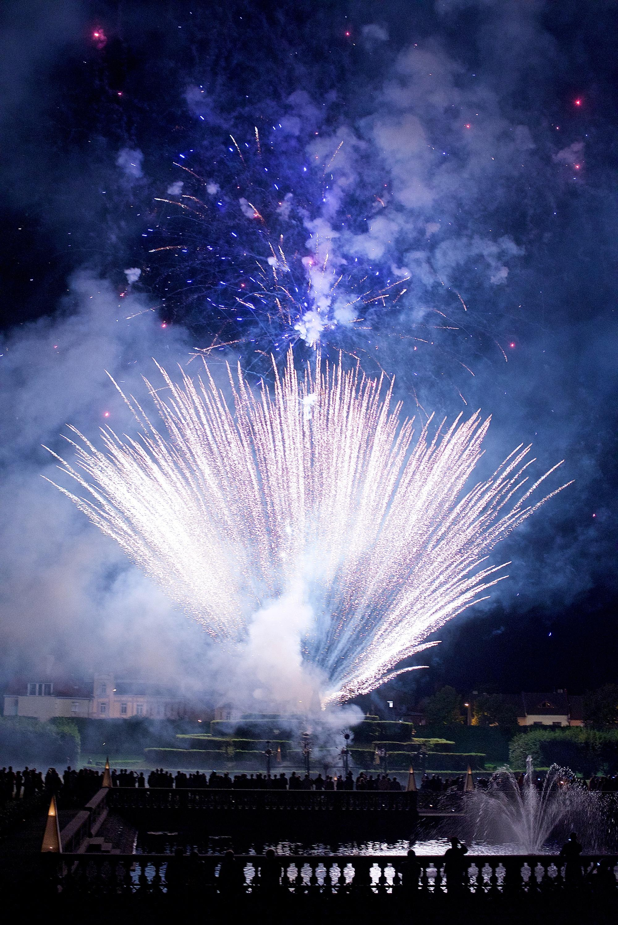 The grand finale of the festival is always the original baroque firework show in the garden. – © Tomas Vrtal