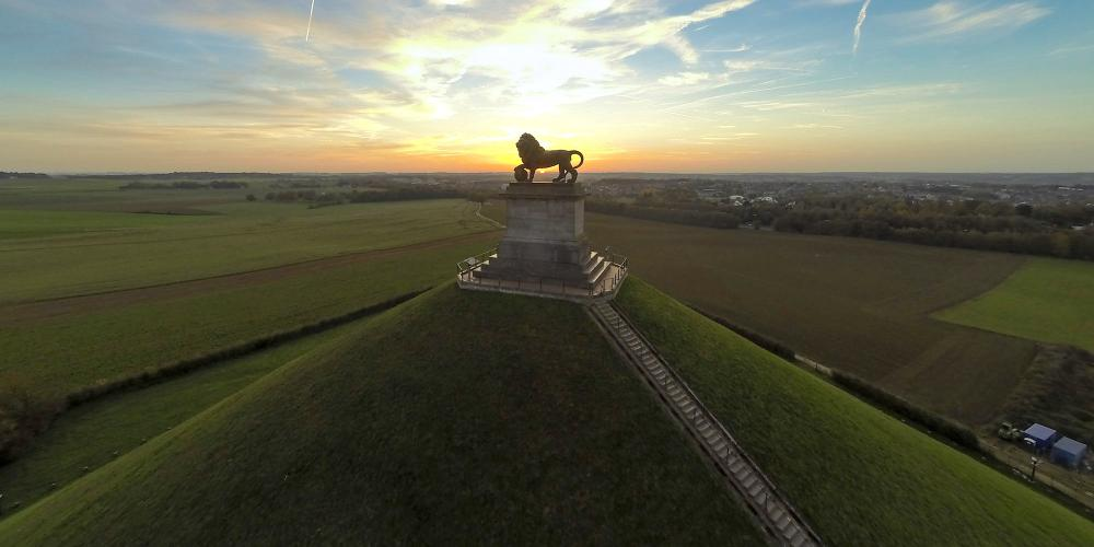 Climb up 226 steps to the top of Lion's Mound for a spectacular view of the historic battlefield. – ©AeroVisuals