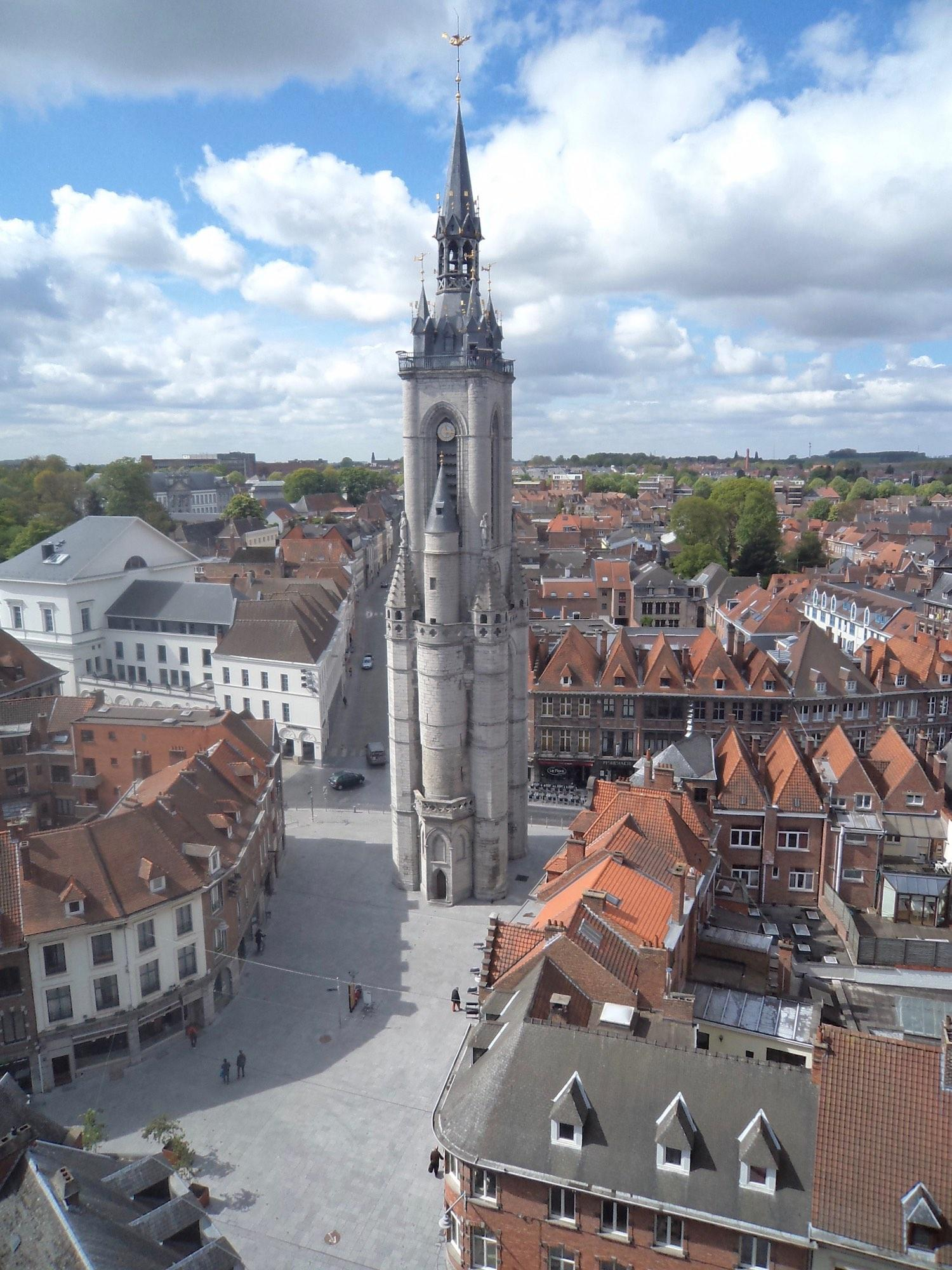 View of the Belfry from the Cathedral, the other UNESCO World Heritage site of Tournai. – © Matt Andrews
