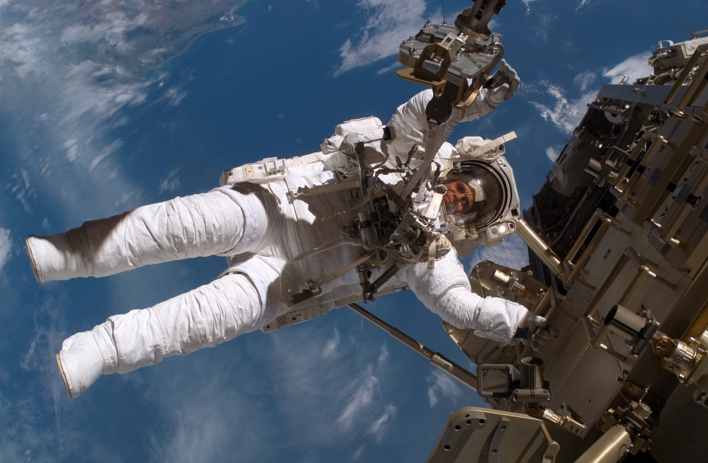 Christer Fuglesang on a space walk on the International Space Station – © Christer Fuglesang