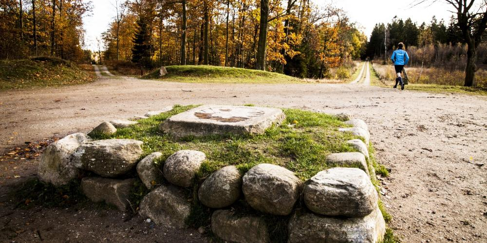 King Christian V placed these stone monuments to clearly define the hunting landscape of the Great Deer Park. – © Sune Magyar / Parforcejagtlandskabet i Nordsjælland