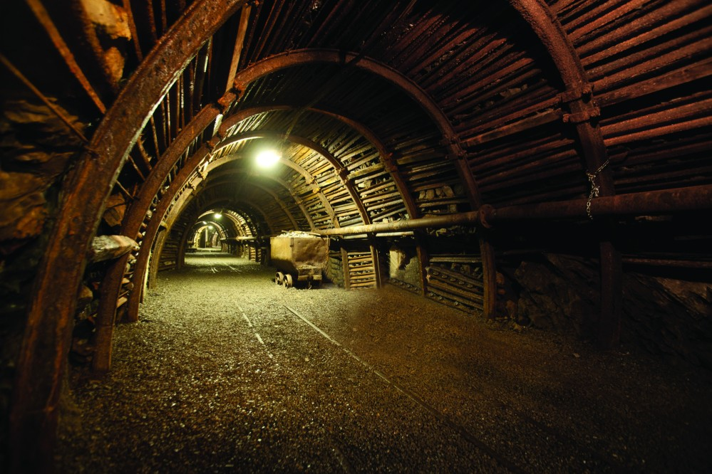 Visitors to the Wallonia Mining Sites learn about life above and below ground. Pictured: the view of the mining gallery at 30 metres deep. – © FTPL