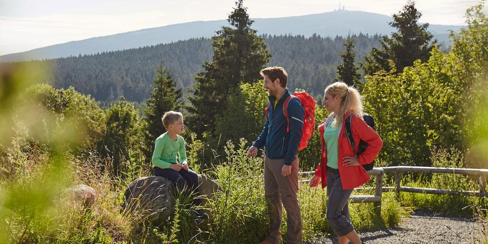 Hiking at Torfhaus in the Harz mountains is the best way to get to know Germany's northernmost low mountain range. Discover the Harz Mountains and collect stamps to become a Harzer Wander King or even a hiking emperor. – © Tourism Board Harz