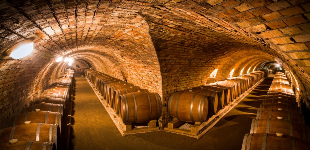 Fermentation takes place in 140-litre Gönci barrels made from Hungarian oak, in cellars extending for over two kilometres, where natural yeasts abound. The process and can take one to two years. – © György Darabos