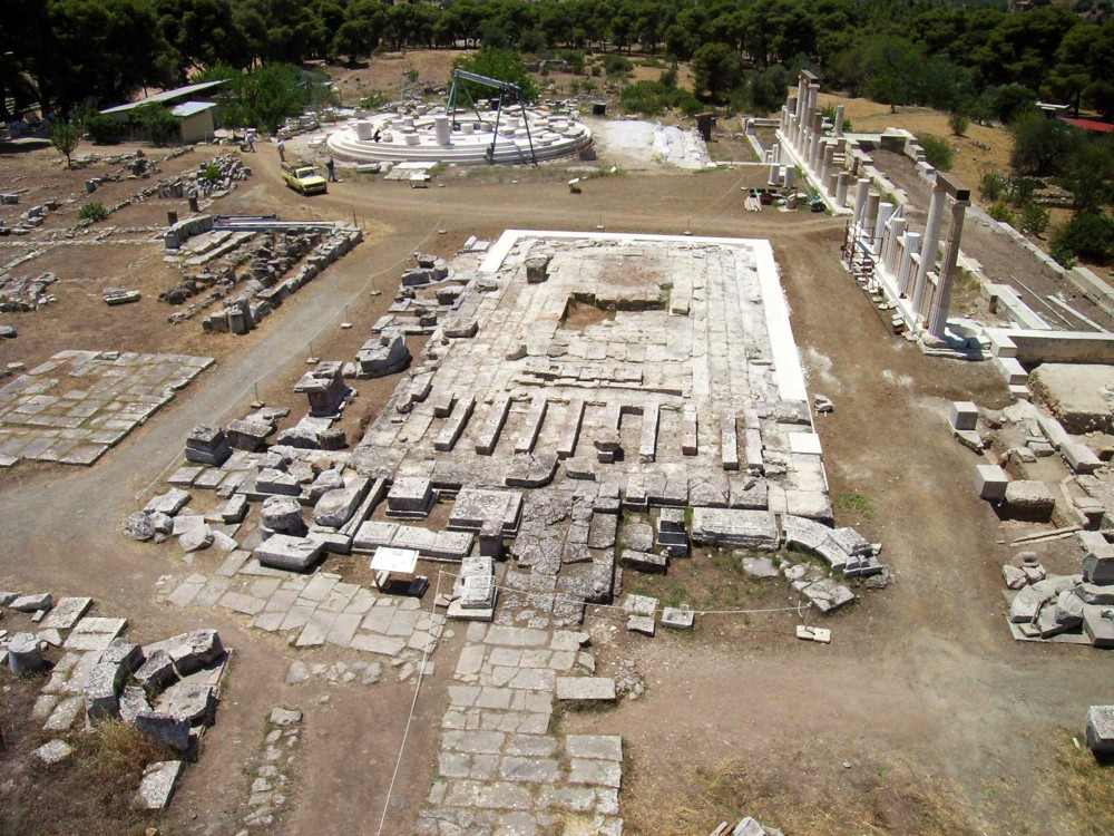 The remains of the Temple of the healing god Asclepius brings visitors from around the world. – © Hellenic Ministry of Culture and Sports / Ephorate of Antiquities of Argolida