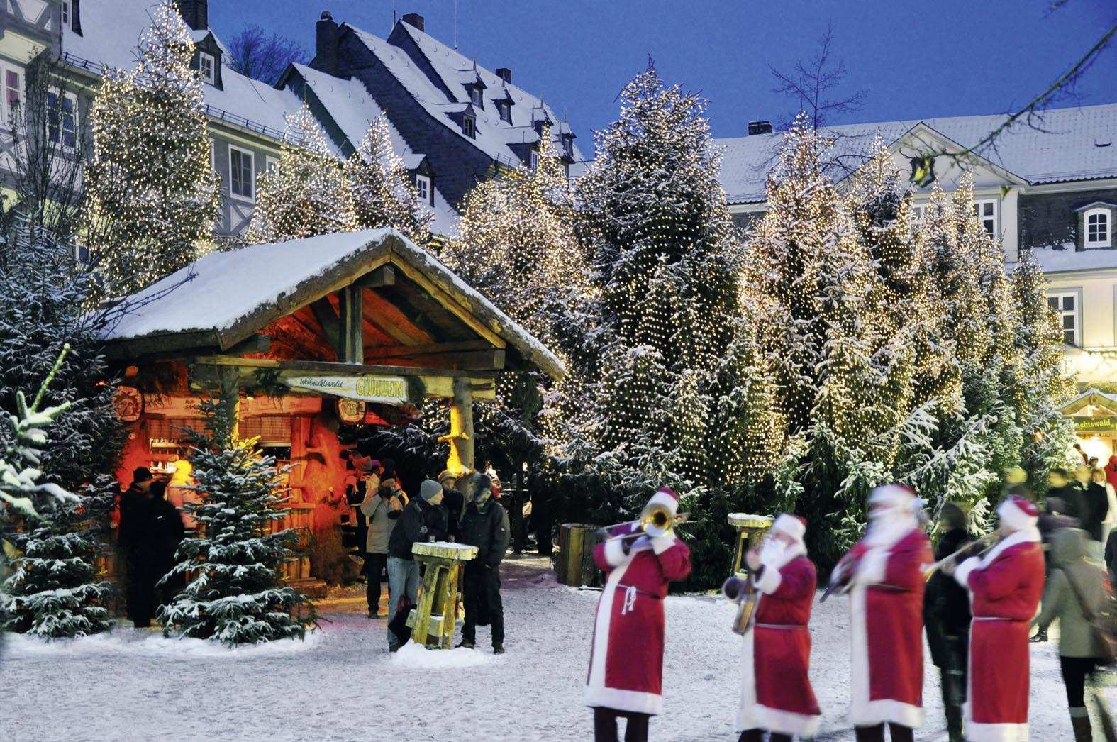 The one and only Christmas Forest. Frequently copied but never equalled—Goslar was pioneer of the idea of creating a forest right in the middle of town. – © GOSLAR marketing gmbh