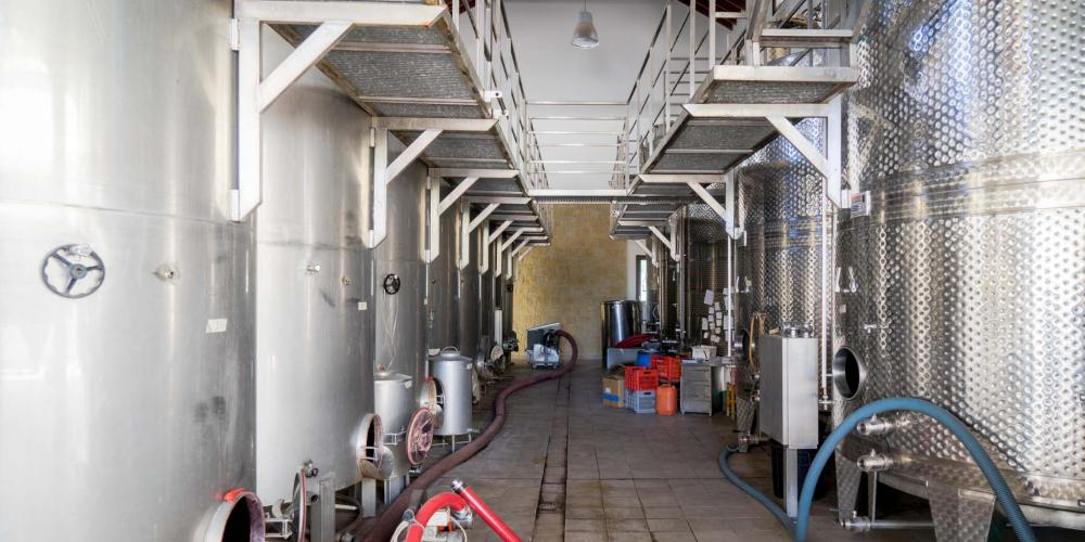At the Vouni Panayia winery, modern technology is mixed with some more traditional winemaking techniques. – © Michael Turtle