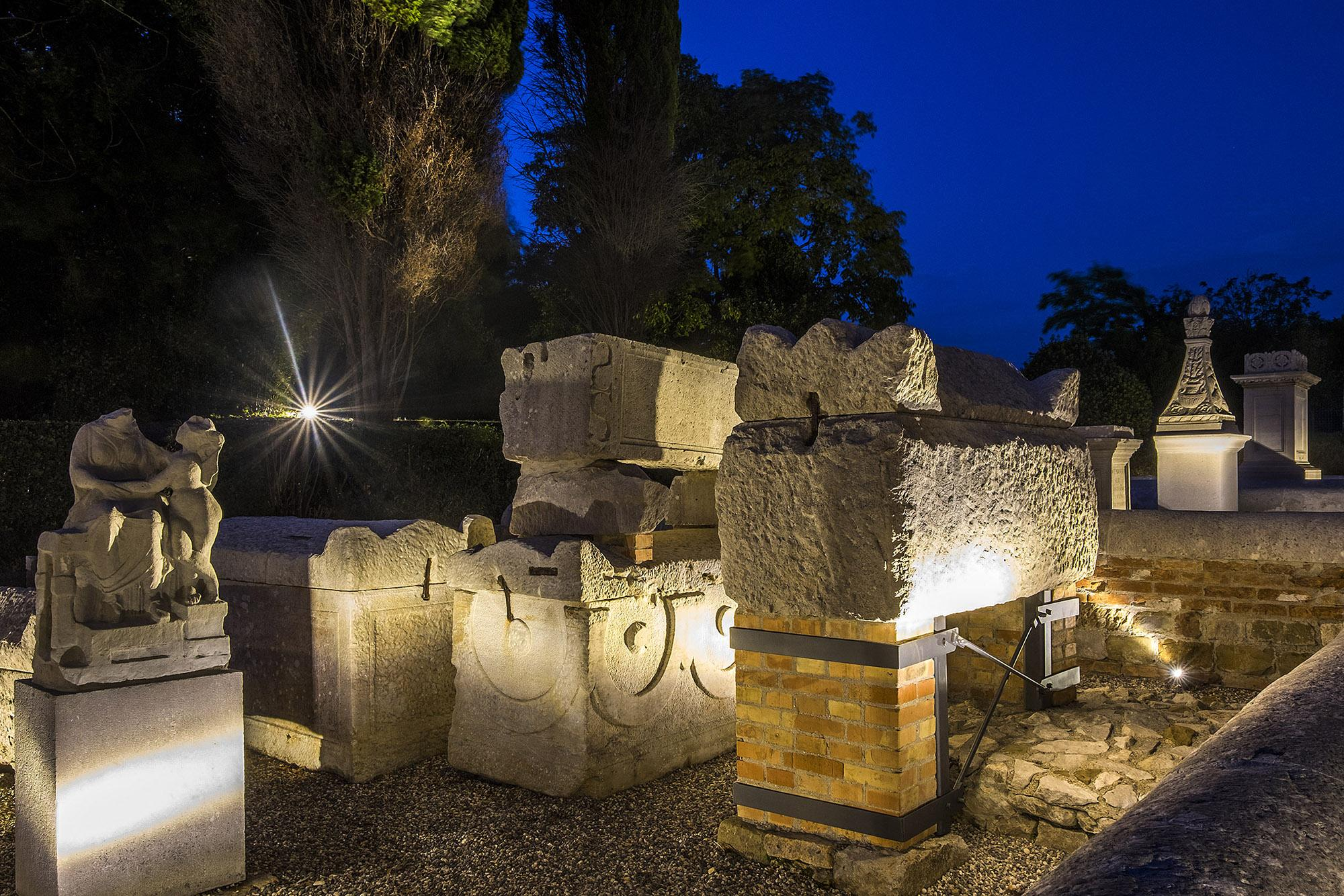 The area of the Necropolis, dating back to the 1st-3rd  centuries AD, is the only visible portion of several Roman burial grounds once found around Aquileia. – © Gianluca Baronchelli