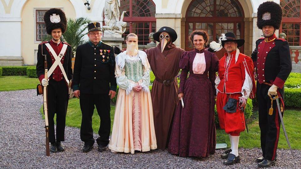 During the busy season, the Bishop's guard is organizing historical city tours with costumes. - © Archive of the Archiepiscopal Castle Kroměříž