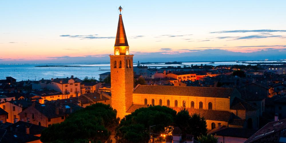 Grado's Santa Eufemia Basilica, a pearl of the early Christian art, and symbol of the city was consecrated in 579. – © Gianluca Baronchelli