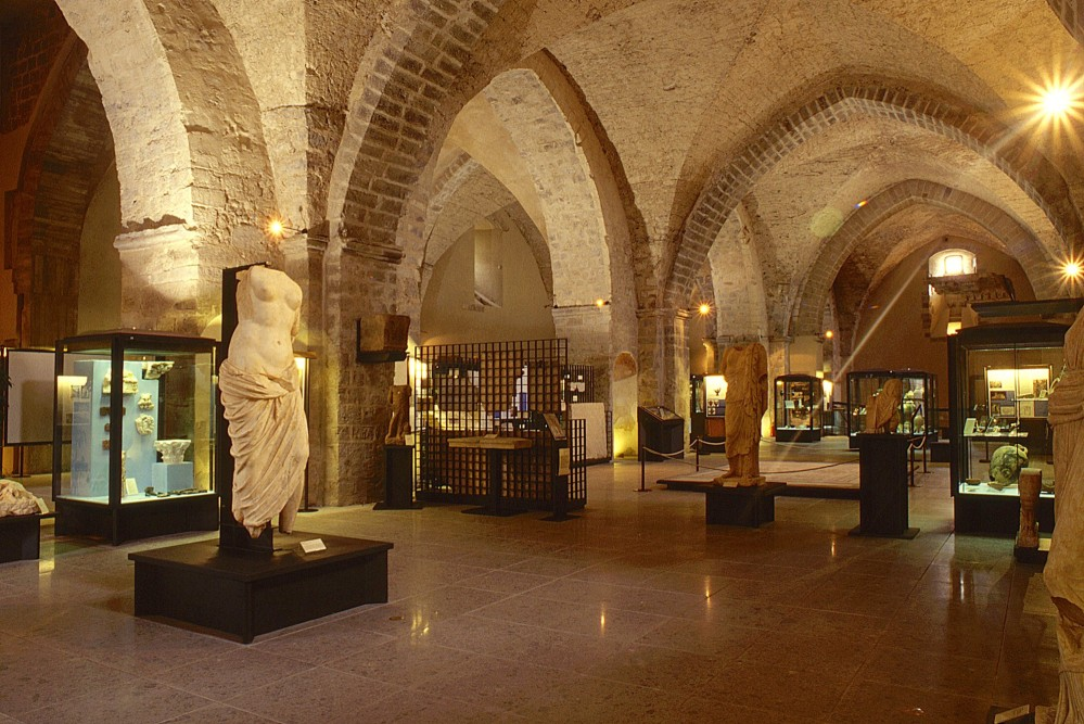 The Archaeological Museum of Teanum Sidicinum is part of the late Gothic monument complex that houses the Statue of Venus in Pentelic marble (I century A. D.) that was excavated from the Roman Theatre. – © Sidicinum Archaeological Museum