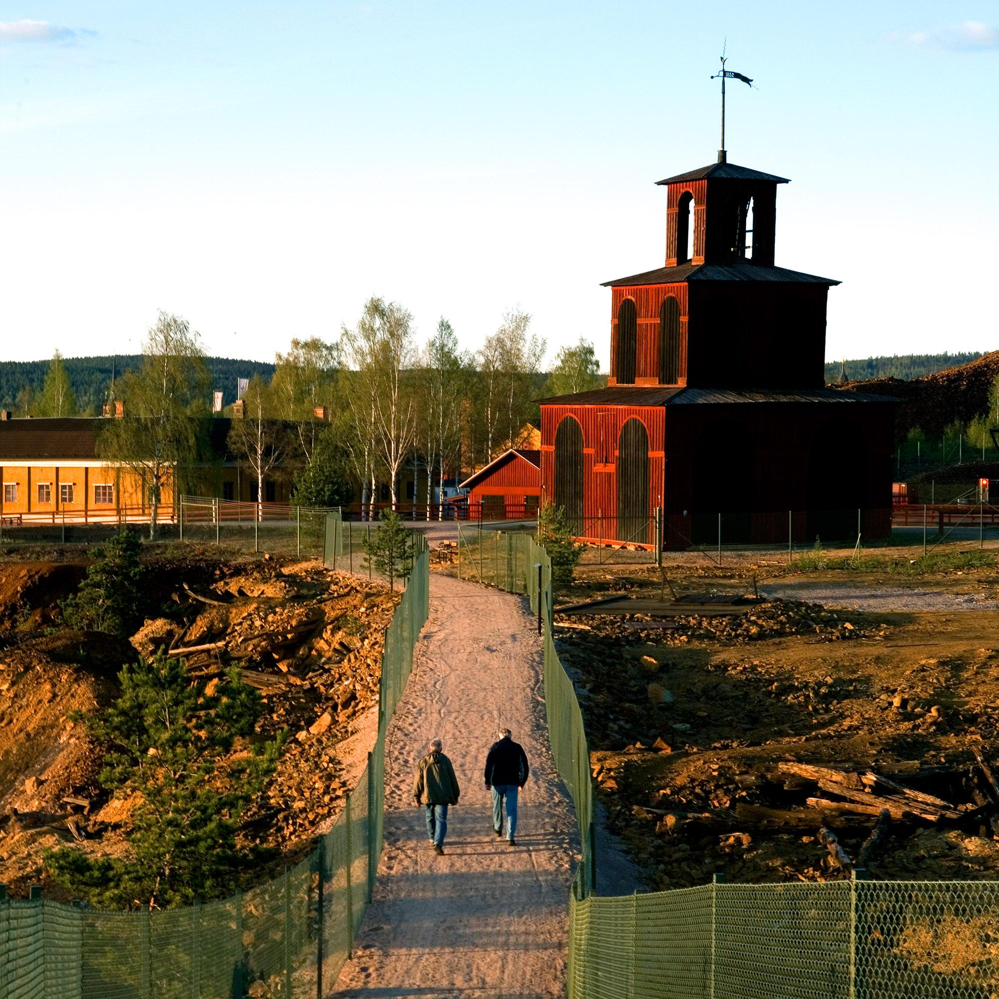 The 1.6 kilometre mine walk close to the Great Pit is landscaped to give every visitor the opportunity to experience the interesting above ground mine area. - © Birgitta Wahlberg