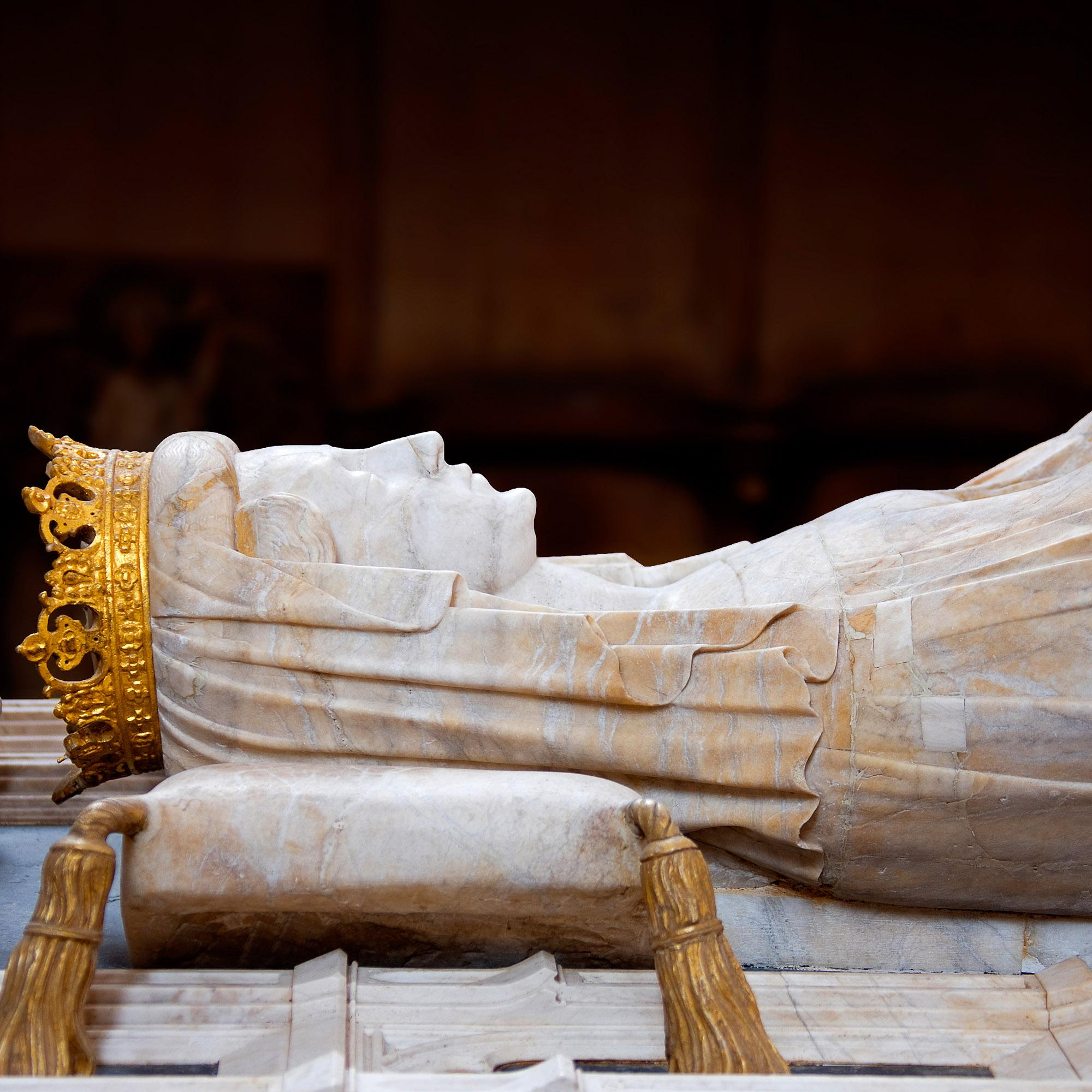 The sarcophagus of Queen Margrethe the 1st, who united Denmark, Norway, and Sweden under Danish rule in 1397. The act sparked 400 years of Danish-Swedish rivalry. – © Jan Friis