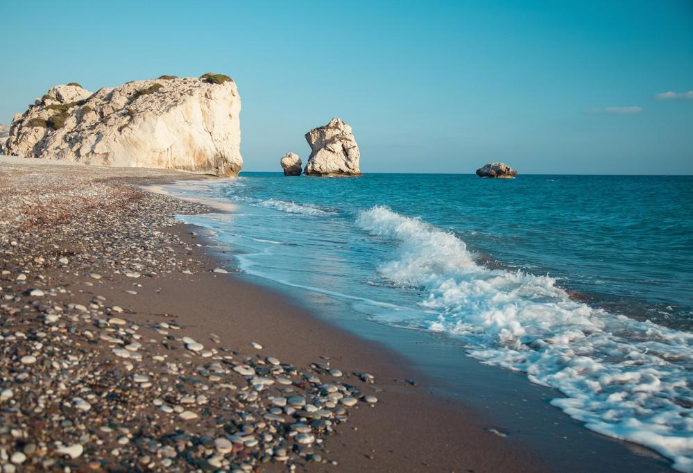 Petra tou Romiou is Aphrodite's legendary birthplace in Pafos, Cyprus. – © Maryna Pleshkun / Shutterstock