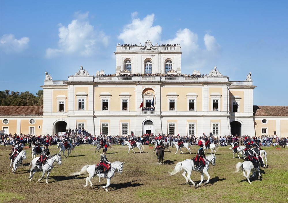 """Carabinieri riding in front of the Royal Site of Carditello for the event """"Horses and Knights 29th of October 2016"""". – © Giovanni Ricci Novara"""