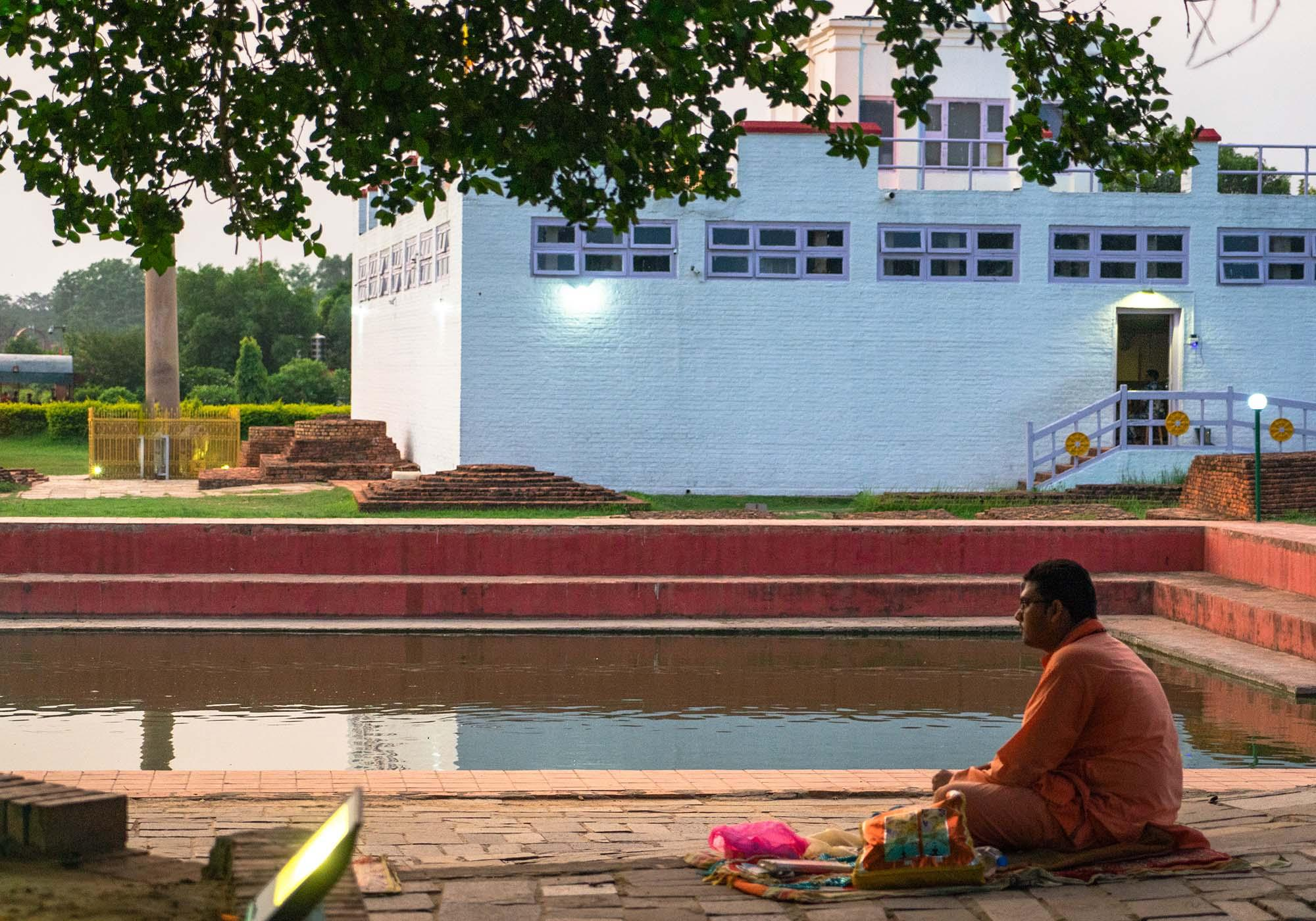 While Lumbini is a focal point for Buddhist pilgrims, there are visitors with a variety of faiths and beliefs who come for a spiritual experience. – © Michael Turtle
