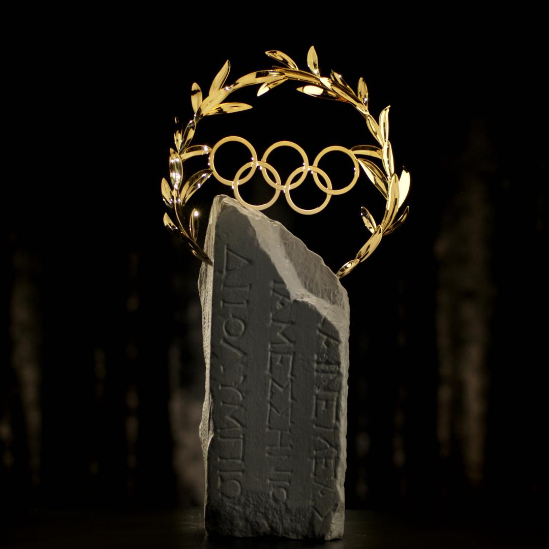 In Rio 2016, the first Olympic Laurel was introduced. The award is made in Fairmined Gold and a replica of a stone  from the site of Olympia. – © IOC