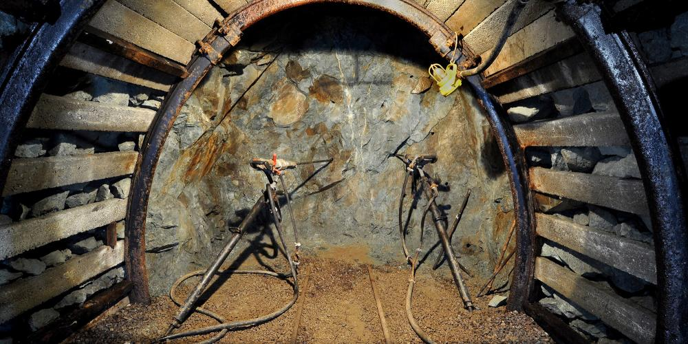 Drills used by miners to help break through rocks. They would drill holes into the rock and then insert explosive material. – © Lubo Lužina