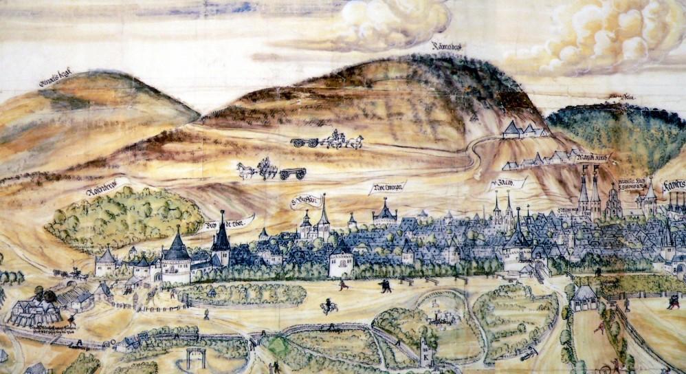 Map of Goslar and Rammelsberg by Matz Sincken (1574)
