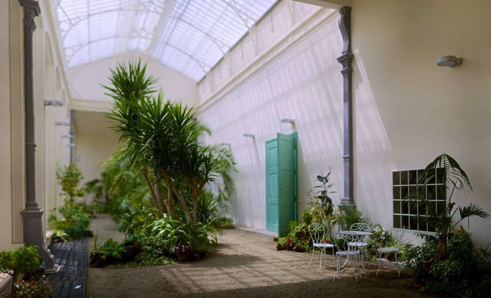 The clean architecture of the Hot and Cold Conservatories hosts unique exhibitions, classical music concerts, and festivals throughout the year. – © Tomas Vrtal