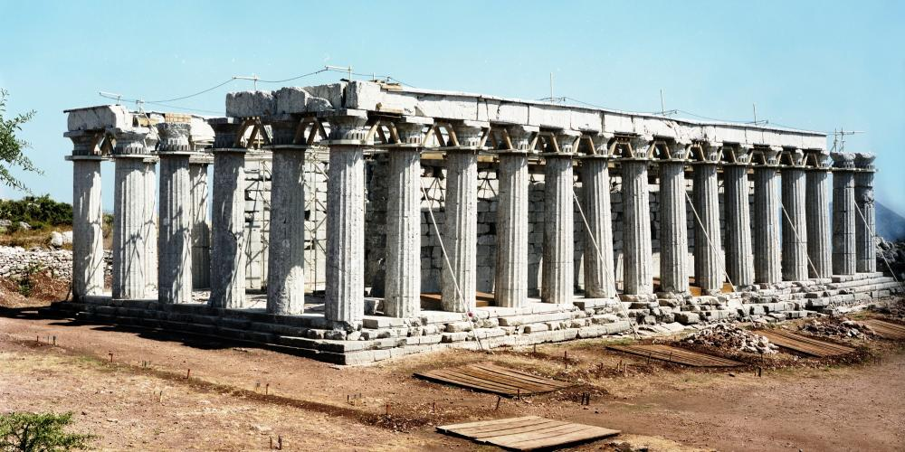 The Temple of Apollo Epikourios was inscribed on the World Heritage List in 1986. The anti seismic scaffold was placed in 1985. – © Hellenic Ministry of Culture and Sports / Ephorate of Antiquities of Ilia