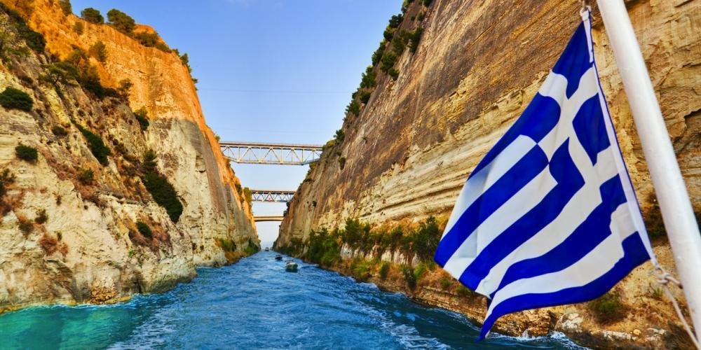 L'un des projets les plus importants de la Grèce moderne, le canal de l'Isthme de Corinthe, a joué un rôle de catalyseur pour le commerce méditerranéen. – © www.enjoycorinthia.gr
