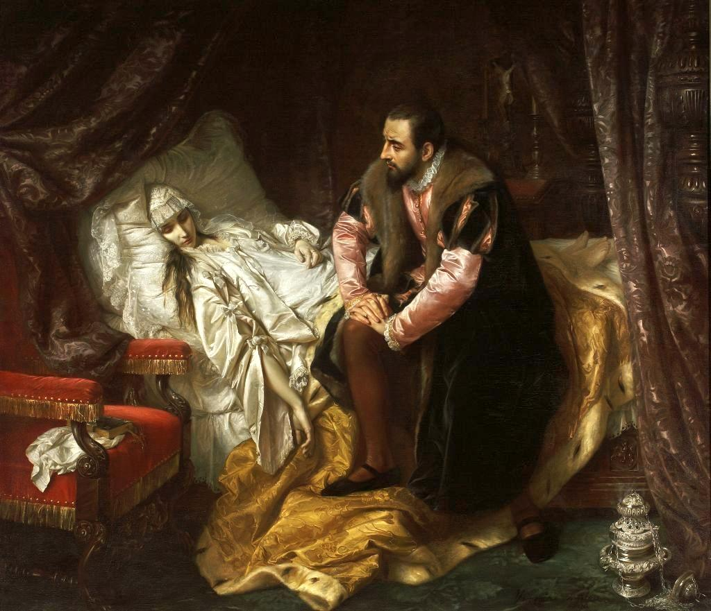 The Death of Barbara Radziwiłł by Polish painter Jozef Simmler, 1860 – National Museum in Warsaw