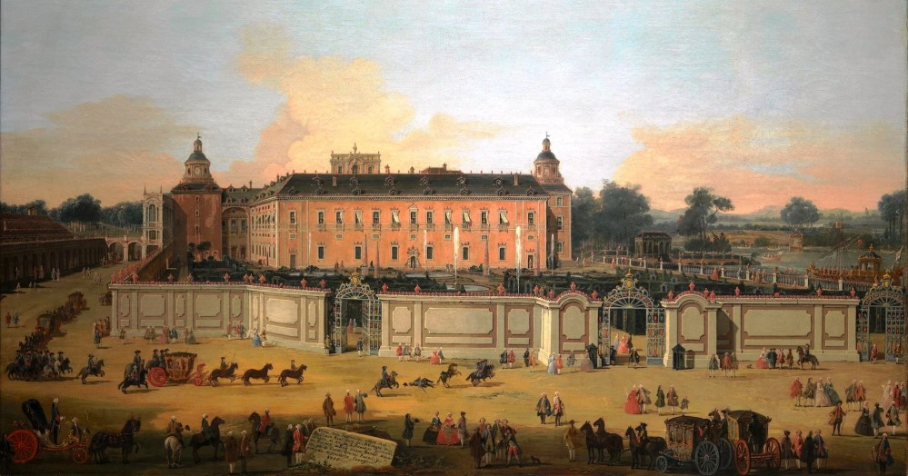 View of the Royal Palace of Aranjuez on the occasion of the celebration of the feast of King Ferdinand VI of Spain (1713-1759) by Francesco Battaglioli in 1756. – © Museo del Prado