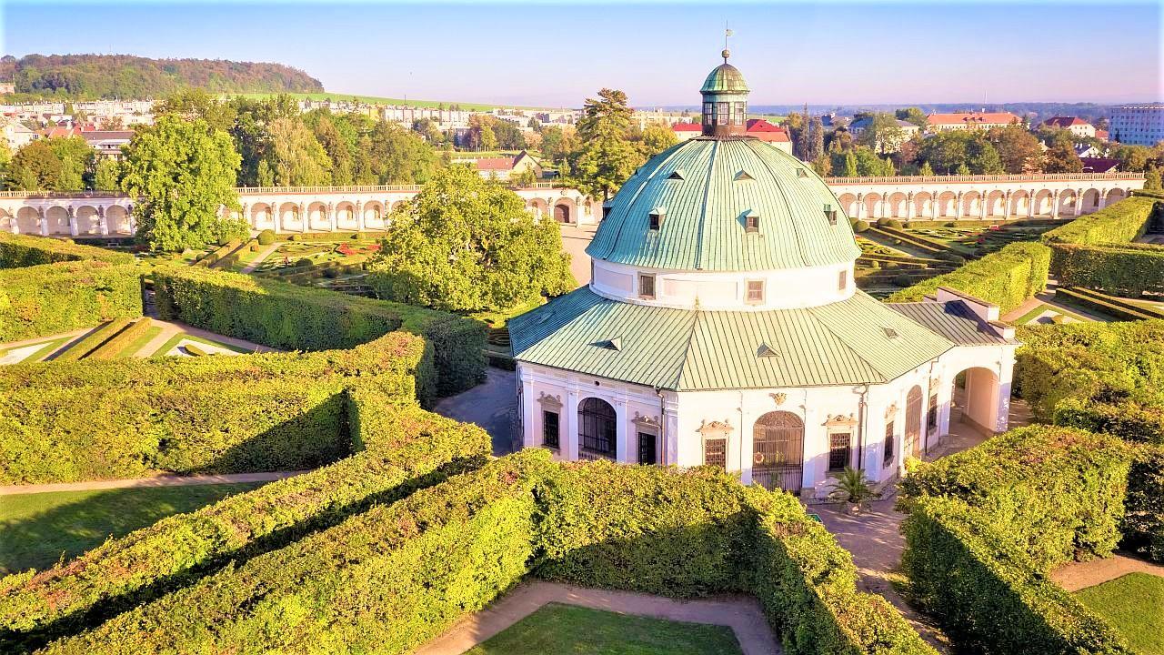 The Flower Garden is nowadays in its original 17th century form. - © Archive of the Archiepiscopal Castle Kroměříž
