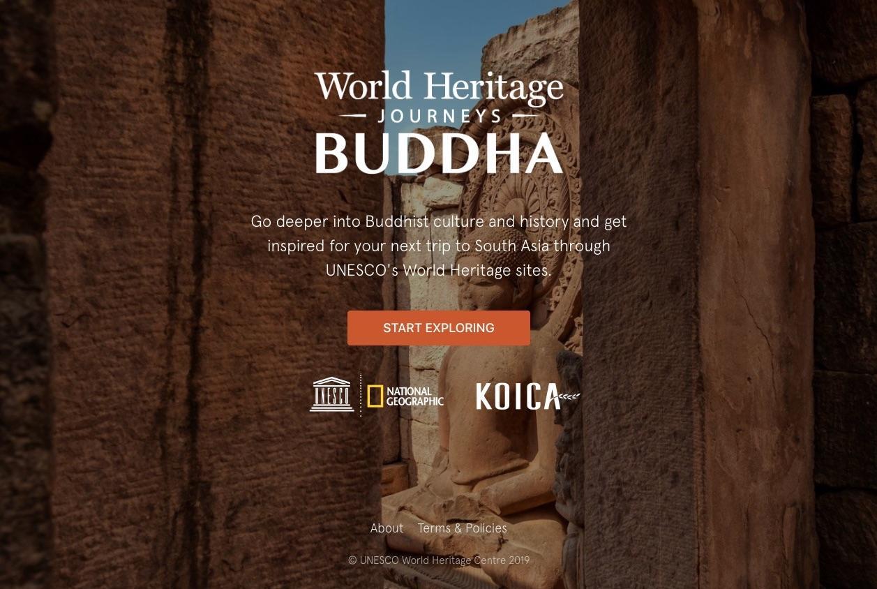 VisitBuddhistWorldHeritage.com home screen